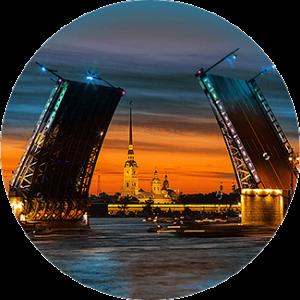 Разведение (разводка) мостов в СПб. Ру-Чартерс.
